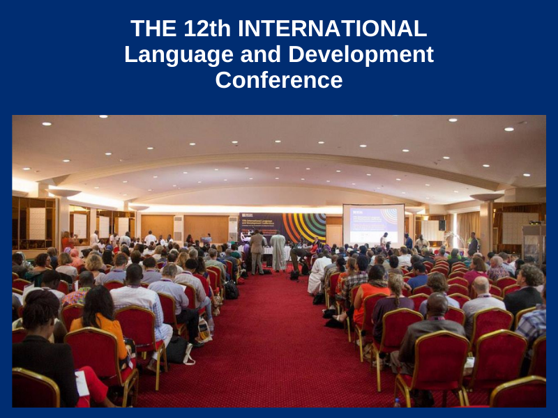 12th INTERNATIONAL LANGUAGE AND DEVELOPMENT CONFERENCE : FROM NOVEMBER 27 TO 29, 2017