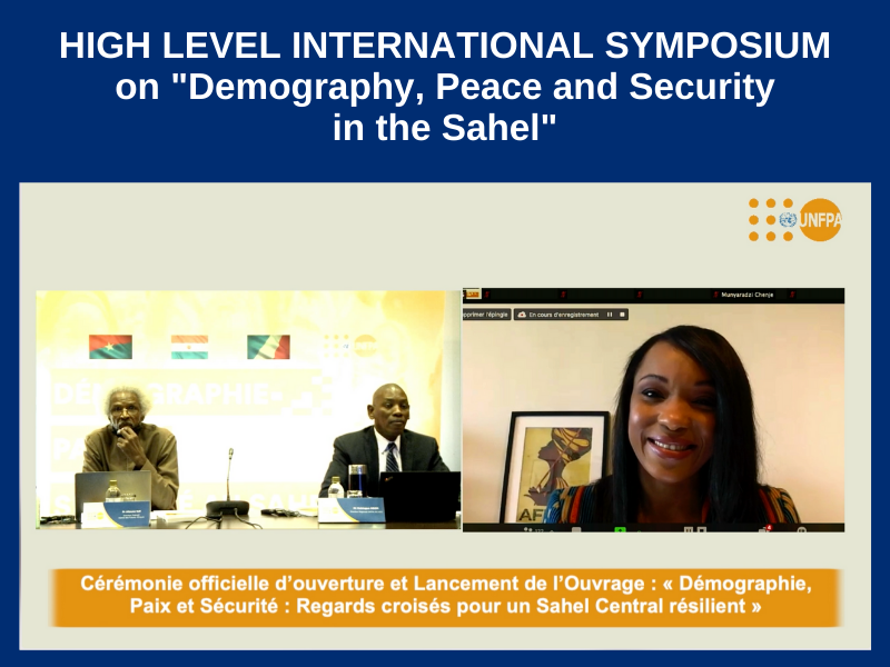"""HIGH LEVEL INTERNATIONAL SYMPOSIUM ON """"DEMOGRAPHY, PEACE AND SECURITY IN THE SAHEL"""" : ON DECEMBER 2, 2020"""